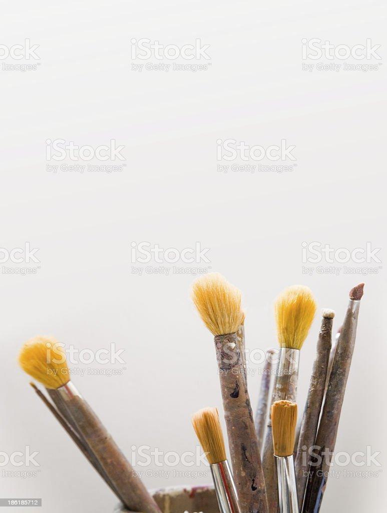 Grunge brushes royalty-free stock photo