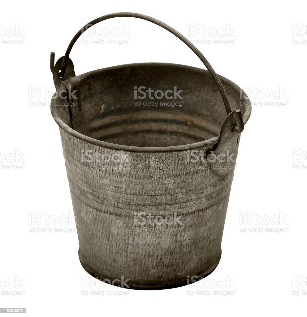 Grunge bucket stock photo