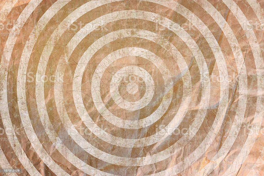 Grunge Bulls-Eye parchment paper background royalty-free stock photo