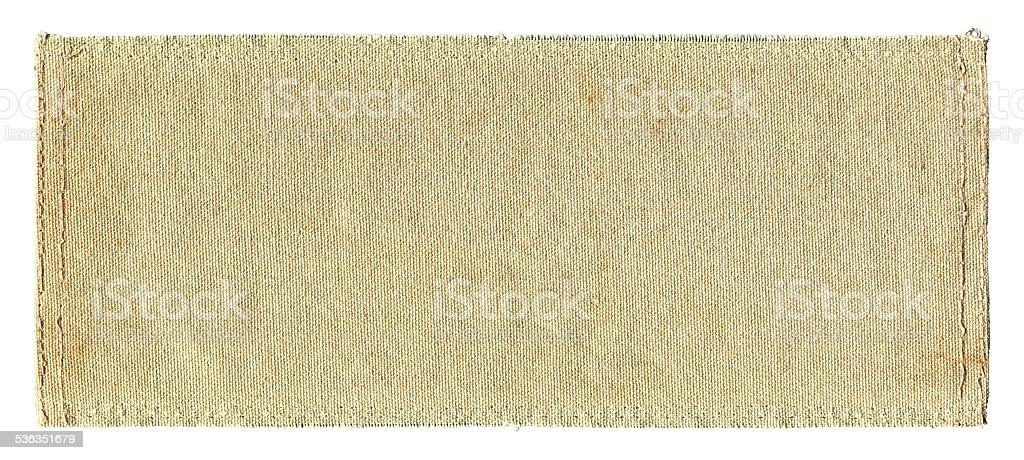 Grunge Canvas textured background isolated stock photo
