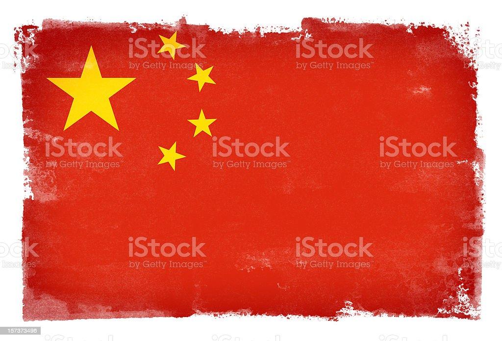 Grunge China Flag royalty-free stock photo