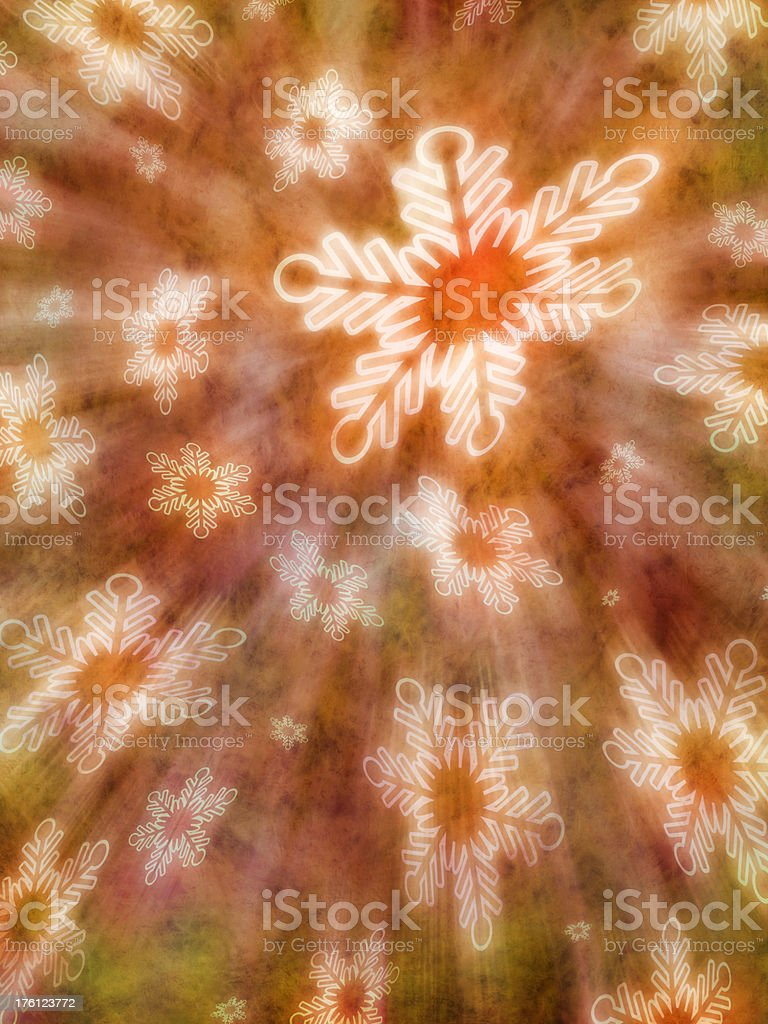 Grunge Christmas Background With Snowflakes royalty-free stock photo