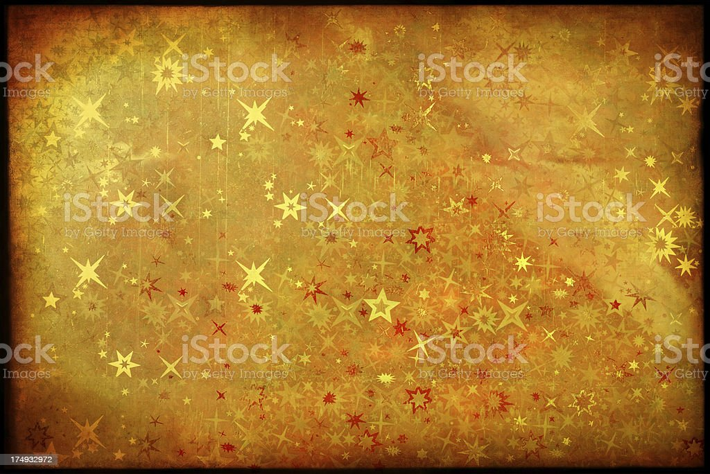 Grunge Christmas Paper With Stars royalty-free stock photo