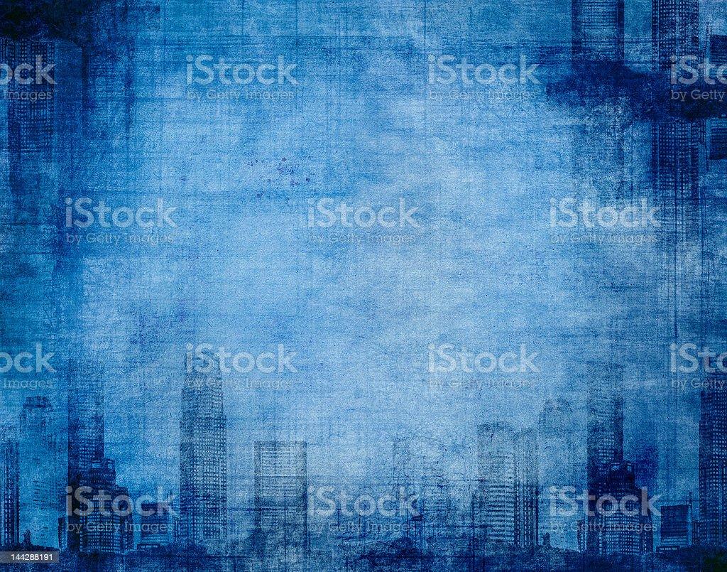 grunge city blue royalty-free stock photo