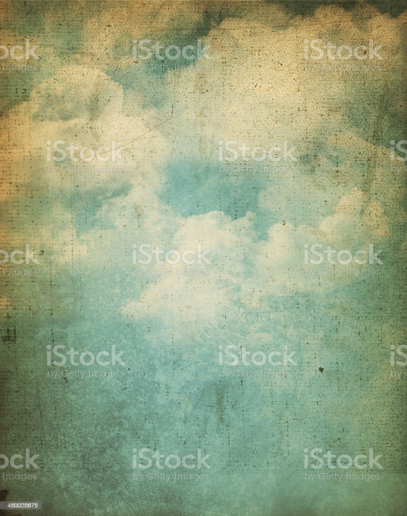 Grunge clouds background stock photo