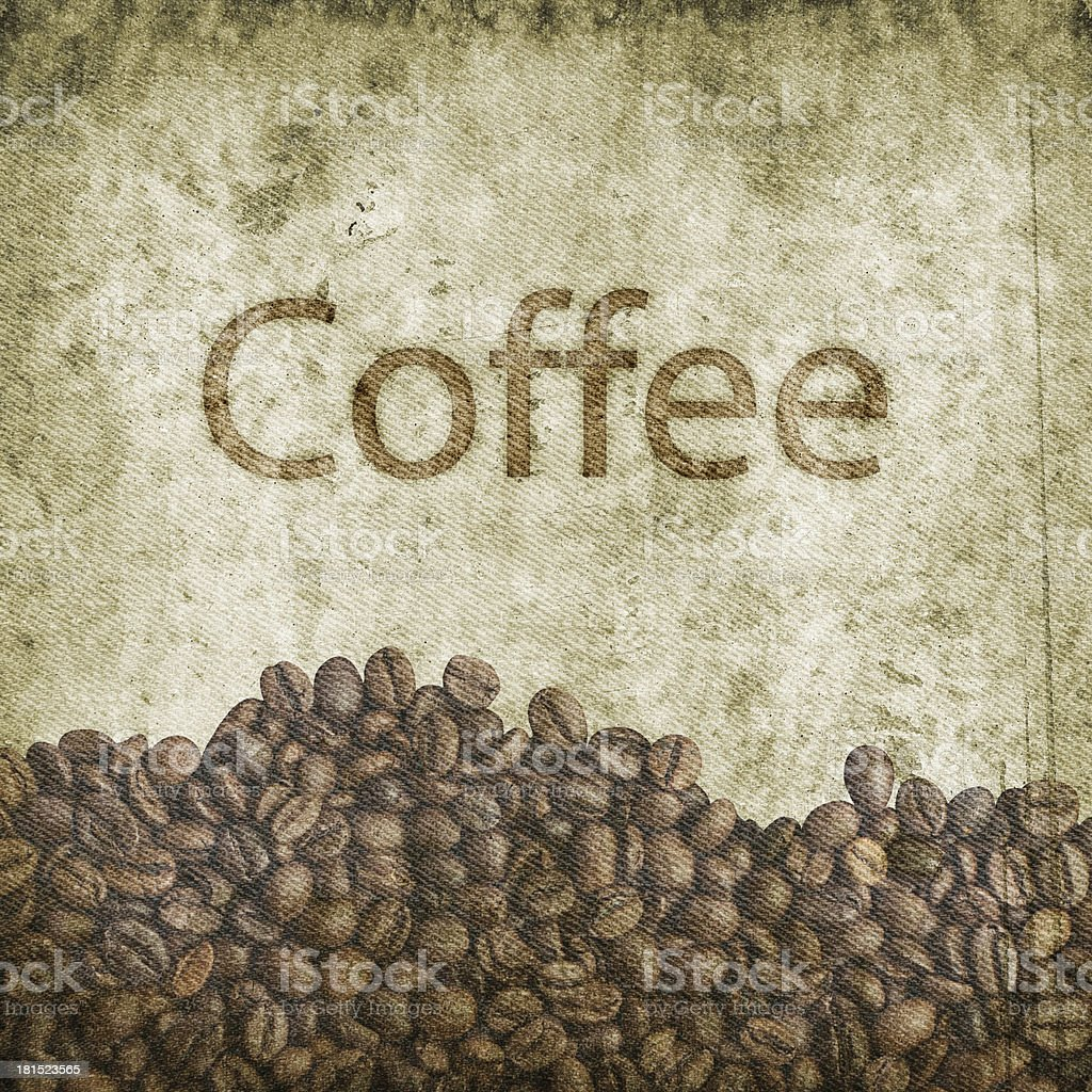 Grunge coffee background royalty-free stock photo