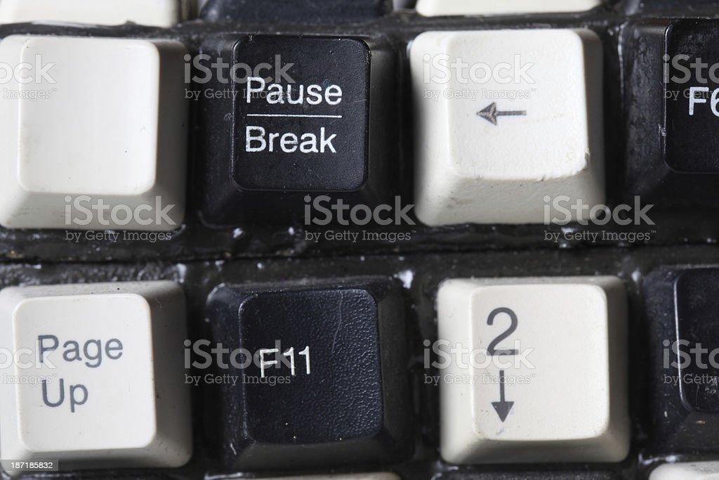 Grunge computer keyboard stock photo