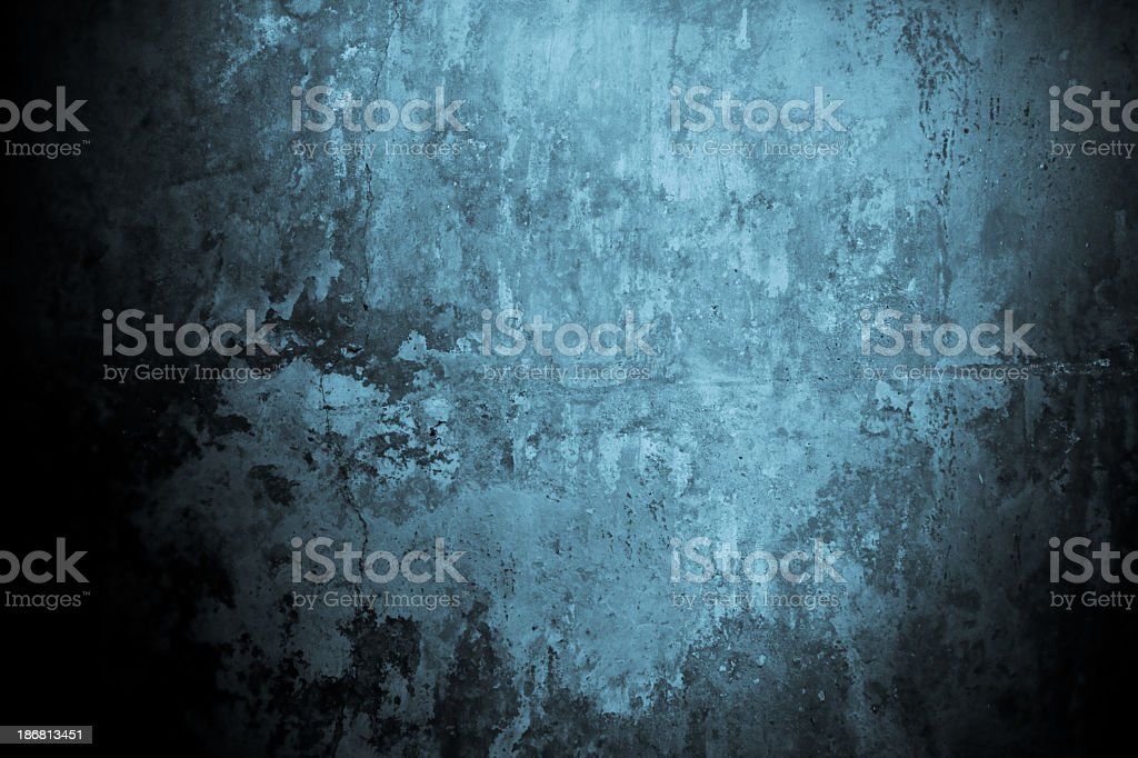 Grunge concrete with blue and paint royalty-free stock photo