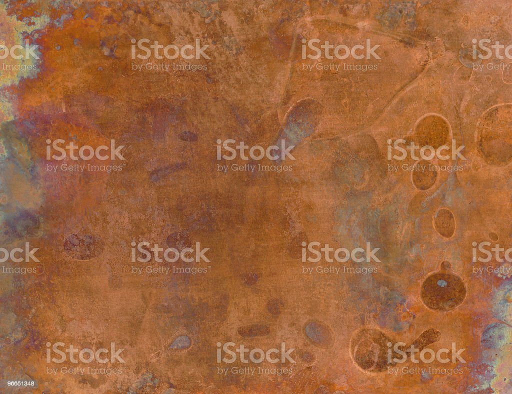 Grunge copper sheet royalty-free stock photo