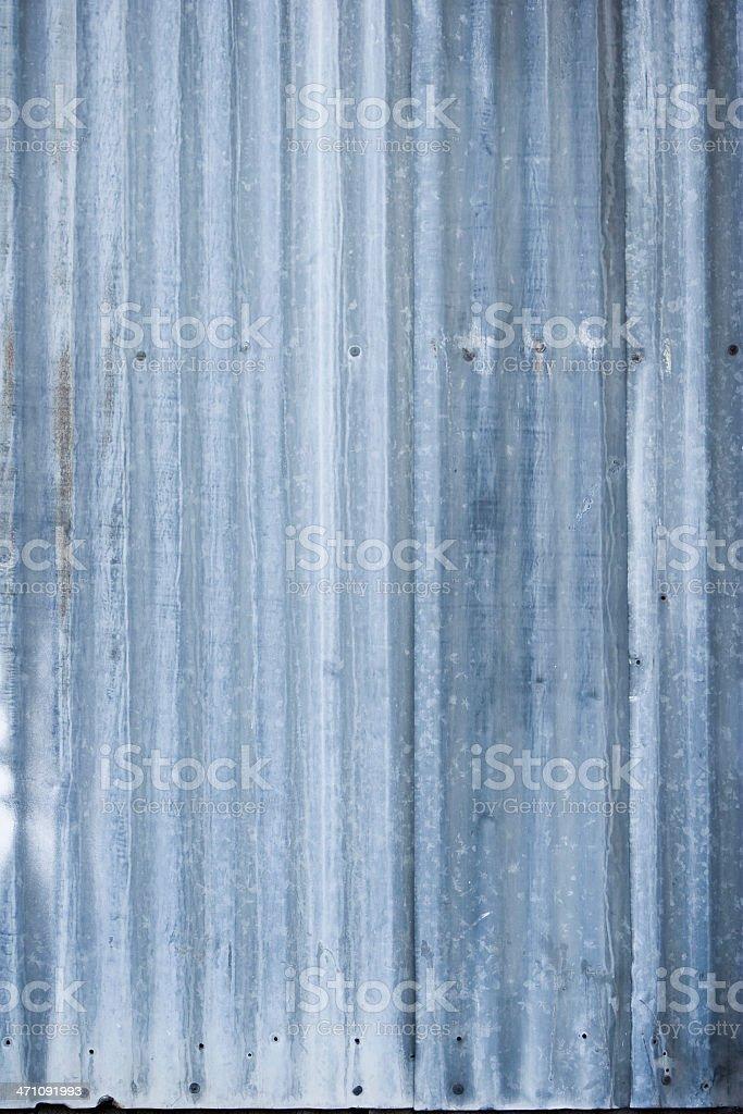 Grunge Corrugated Metal royalty-free stock photo