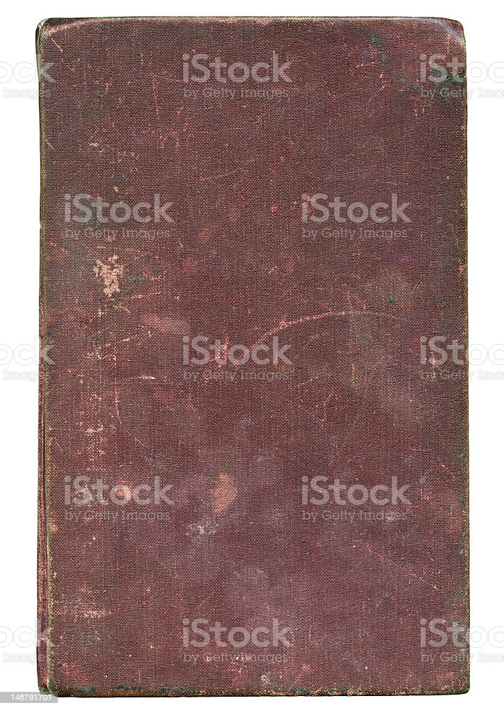grunge cover of a old book with clipping path royalty-free stock photo