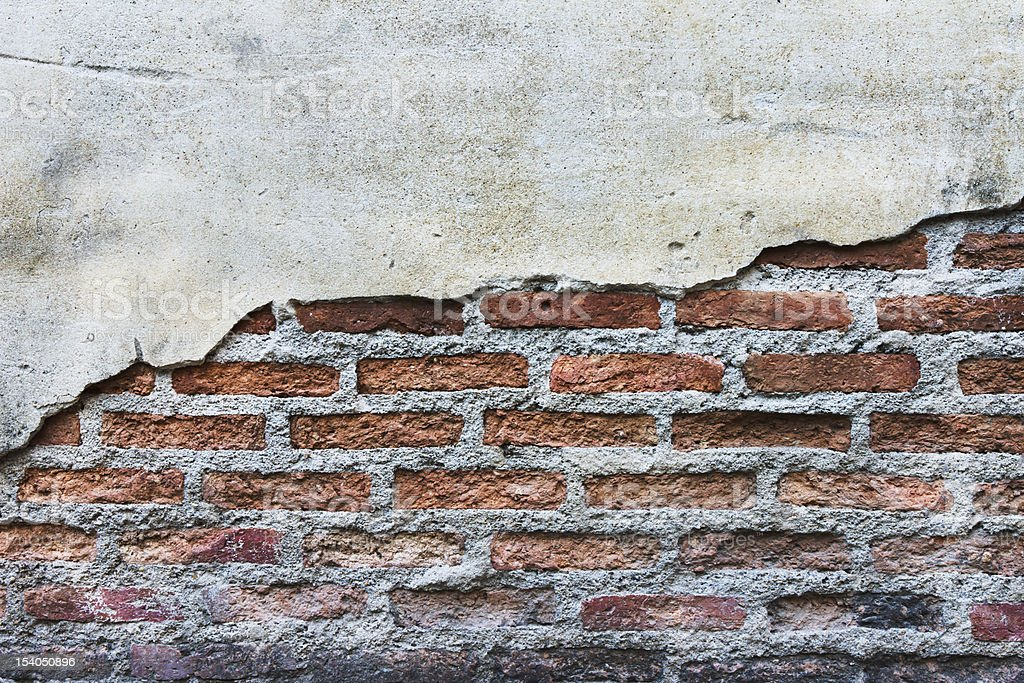 grunge rottura muro di cemento per sfondo foto stock royalty-free