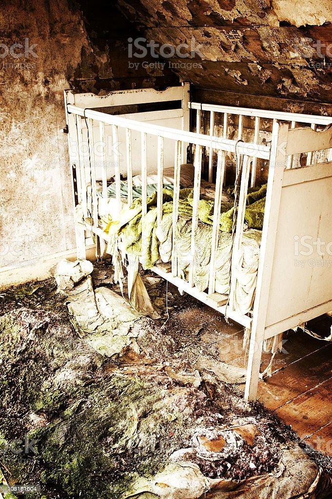 Grunge Crib royalty-free stock photo