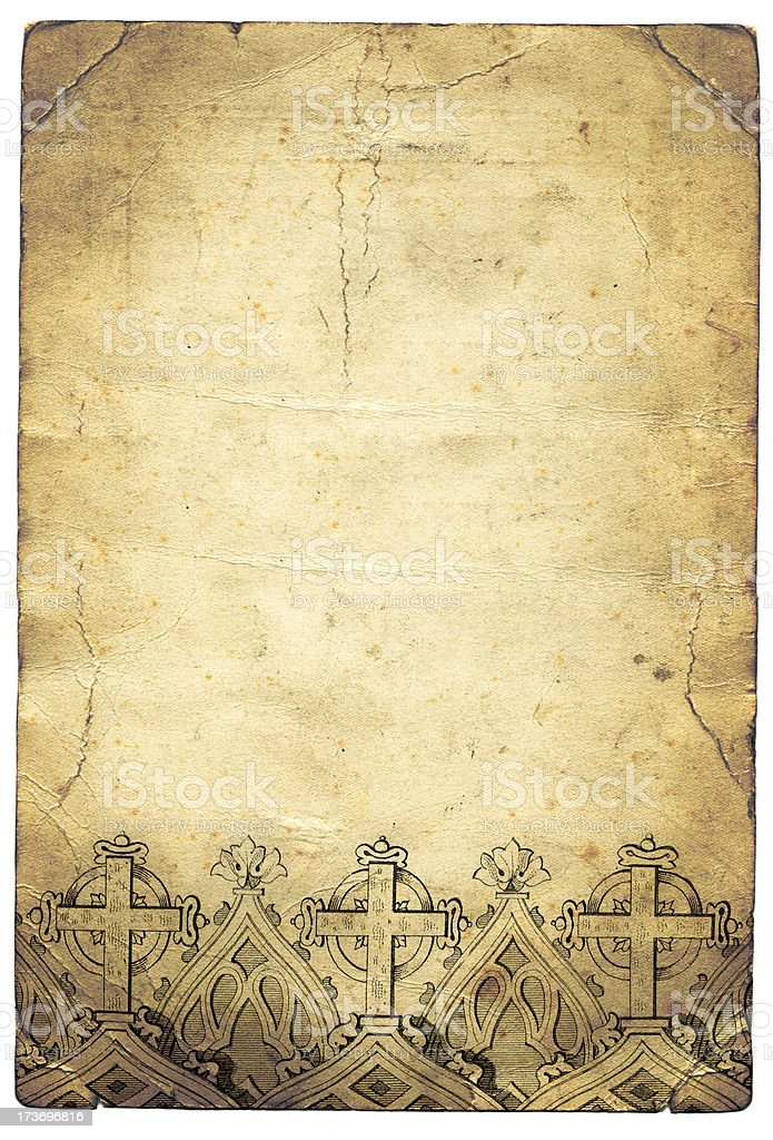 Grunge cross paper stock photo