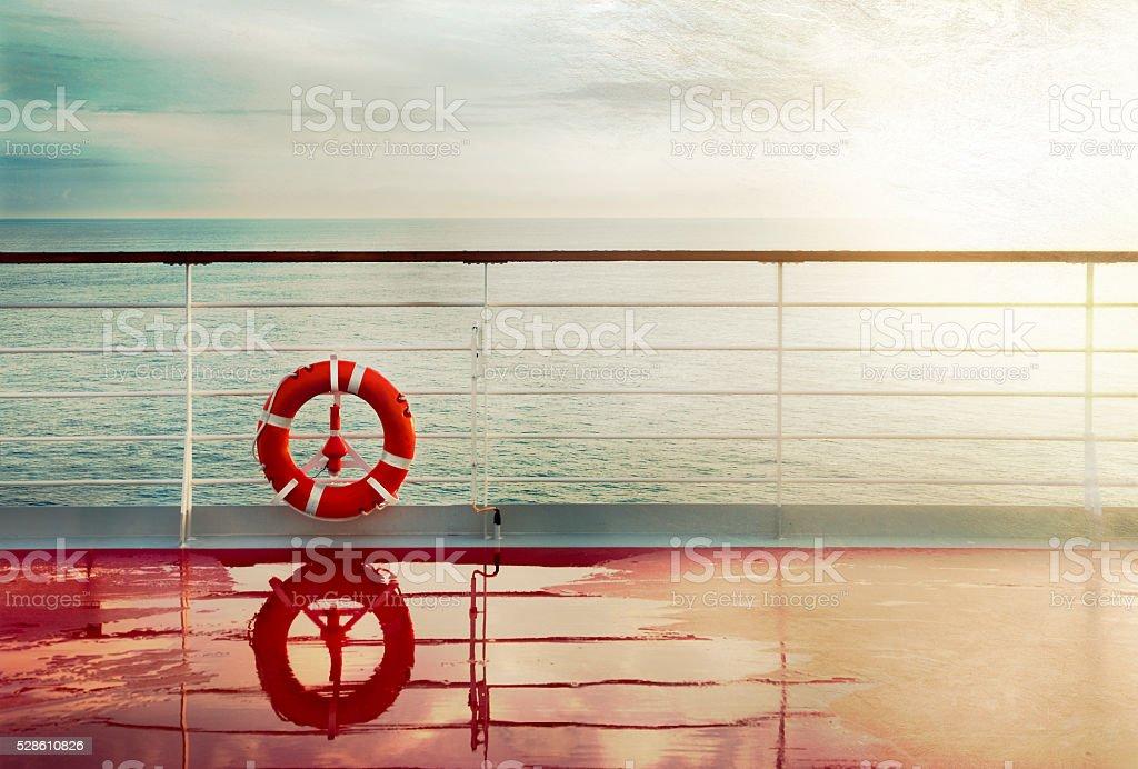 Grunge cruise deck background stock photo