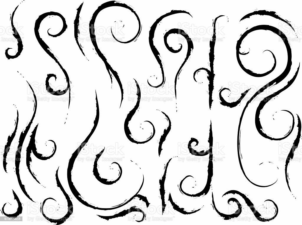 grunge curls stock photo