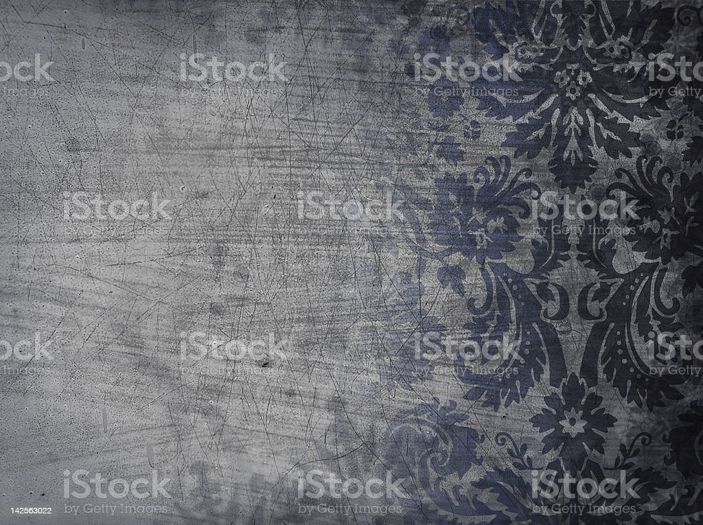 Grunge Damask stock photo