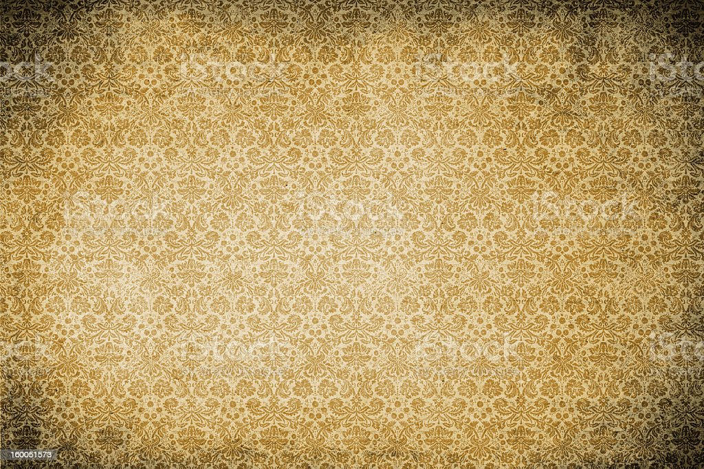 Grunge damask wallpaper stock photo