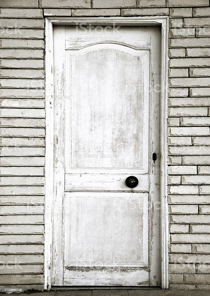 Grunge door stock photo