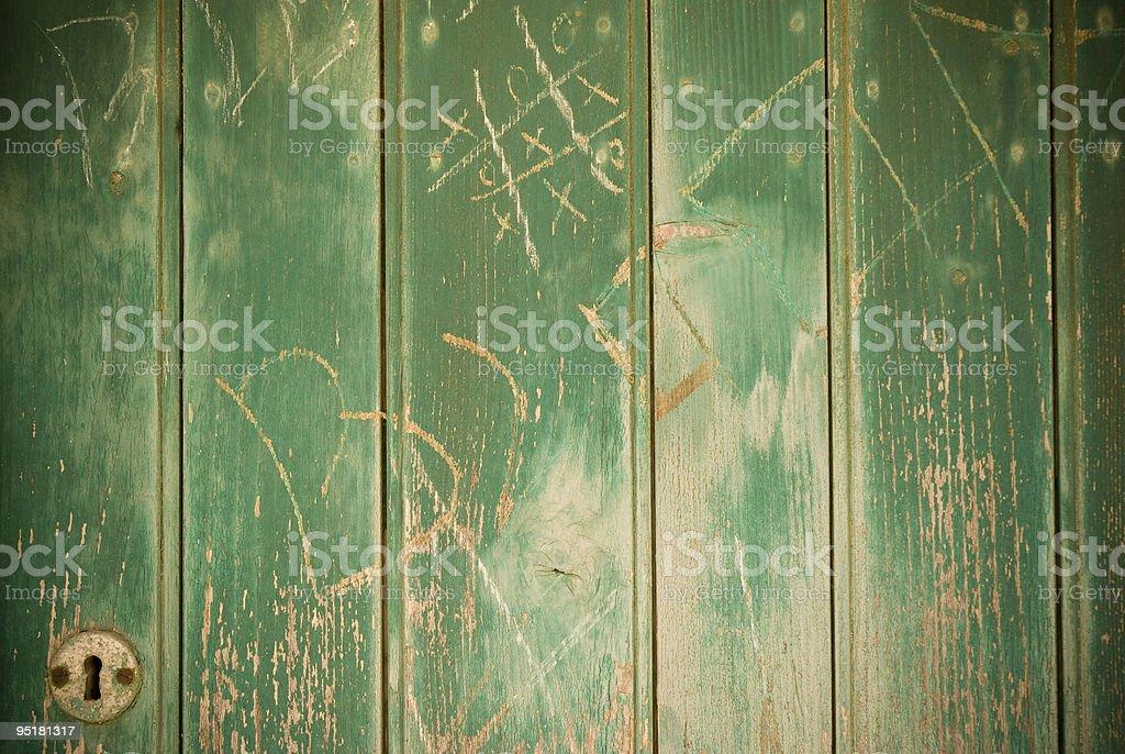 grunge door with lock royalty-free stock photo