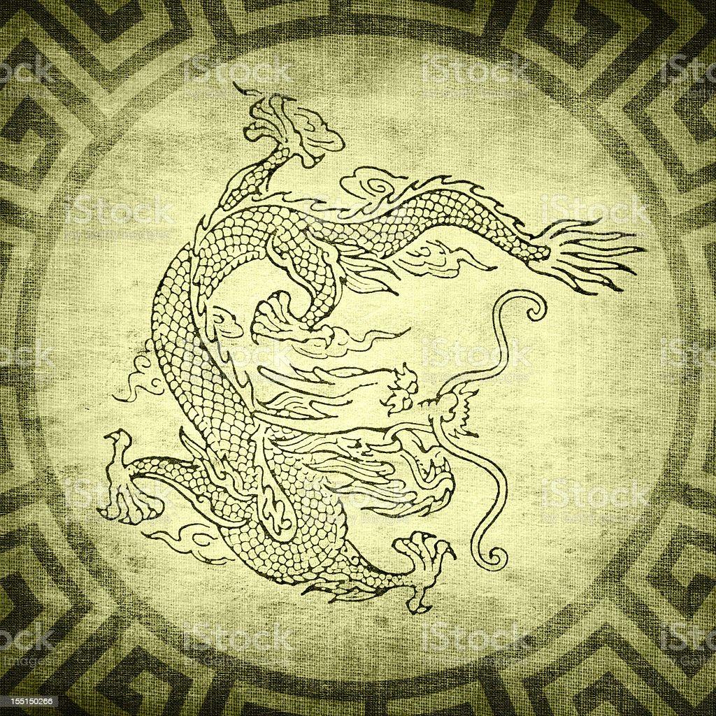 Grunge Dragon background stock photo