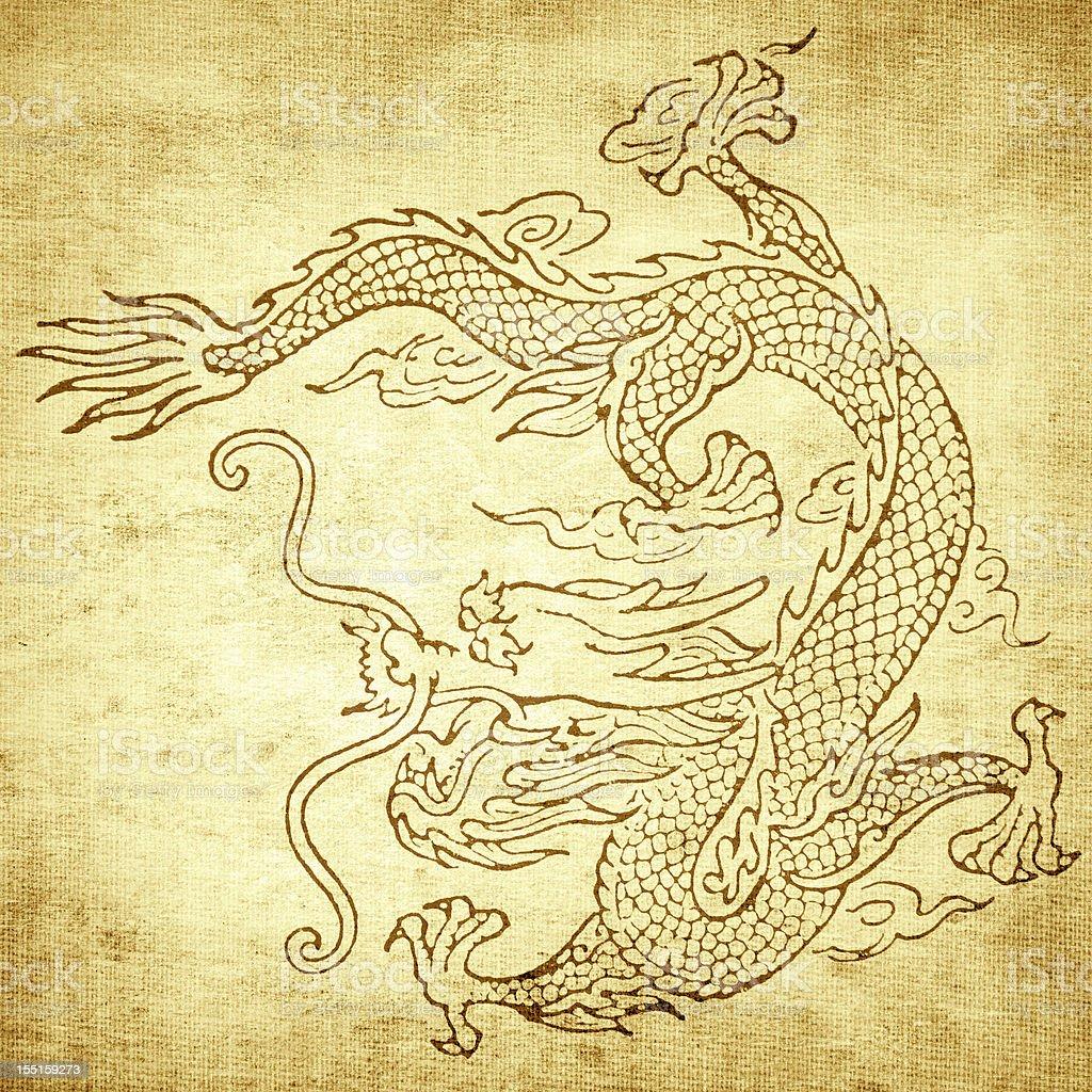 Grunge Dragon background royalty-free stock photo