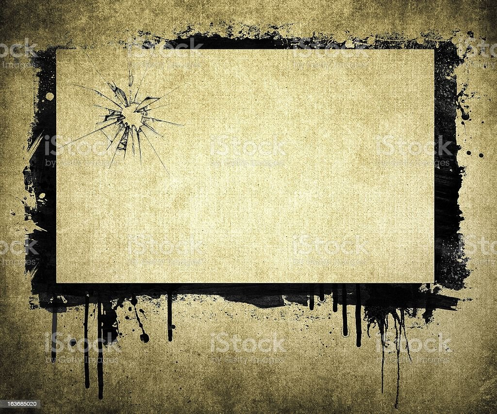 Grunge dripping abstract frame background royalty-free stock photo