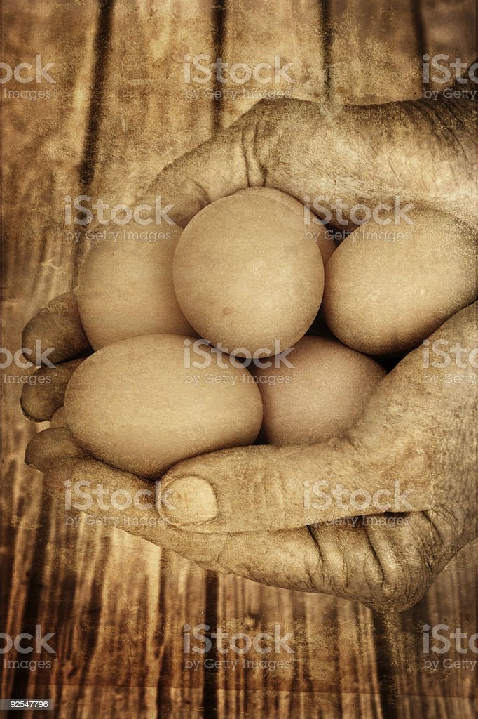 Grunge Eggs royalty-free stock photo