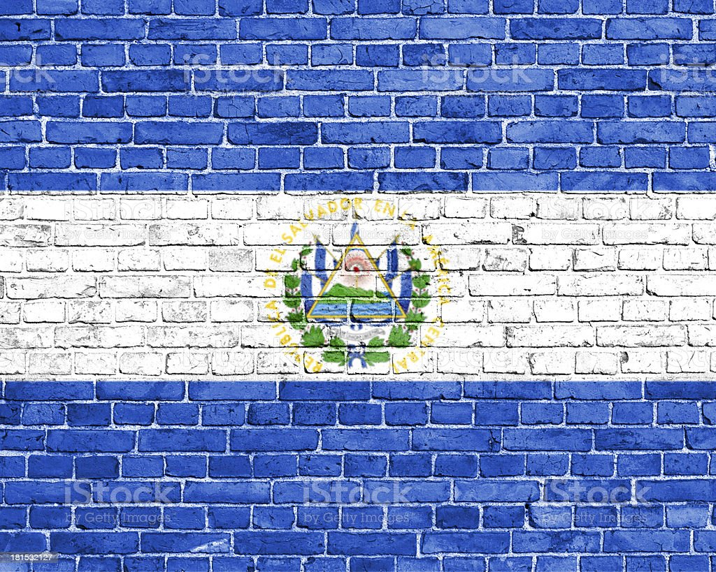 Grunge El Salvadorflag royalty-free stock photo