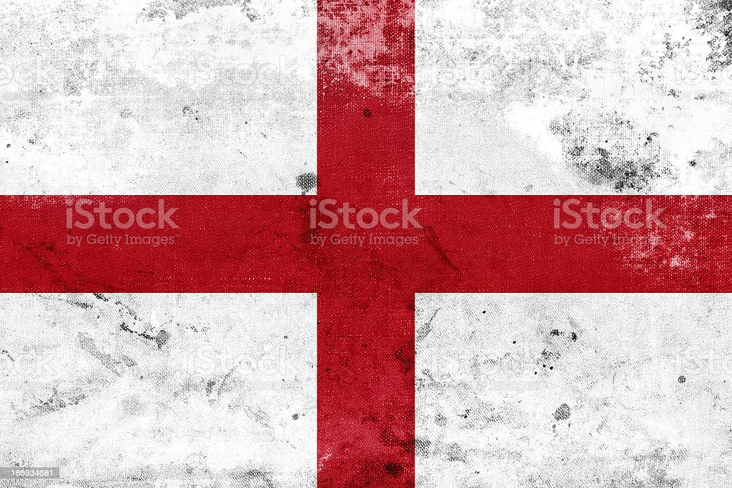 Grunge England Flag royalty-free stock photo
