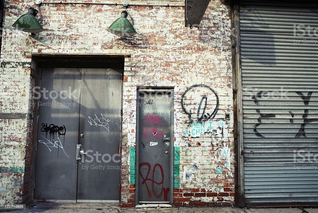 Grunge entrance stock photo