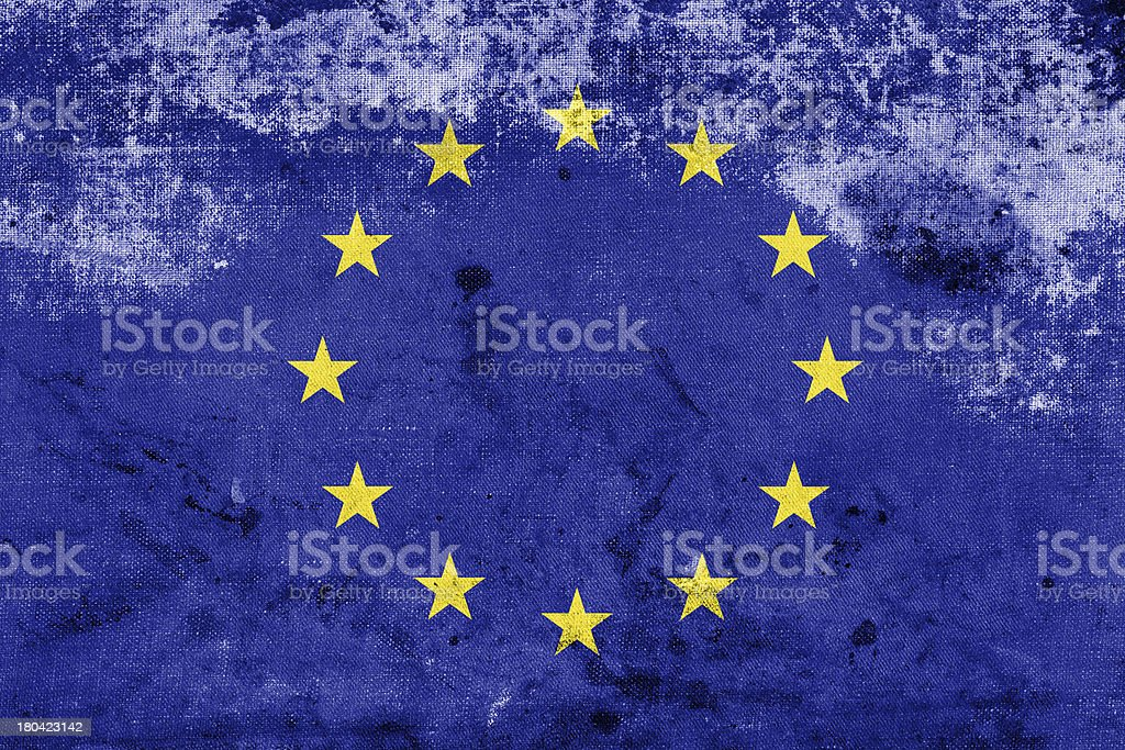 Grunge European Union Flag royalty-free stock photo