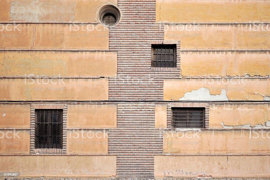 grunge facade stock photo