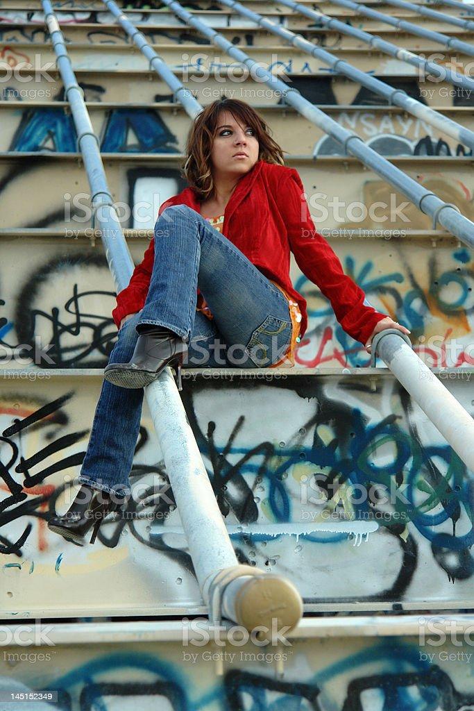 grunge fashion model royalty-free stock photo