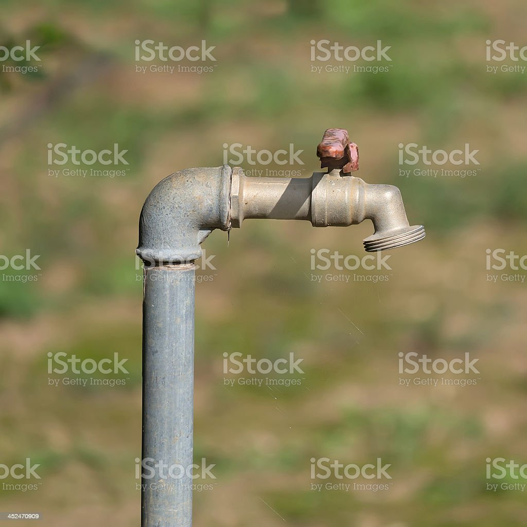 grunge faucet royalty-free stock photo