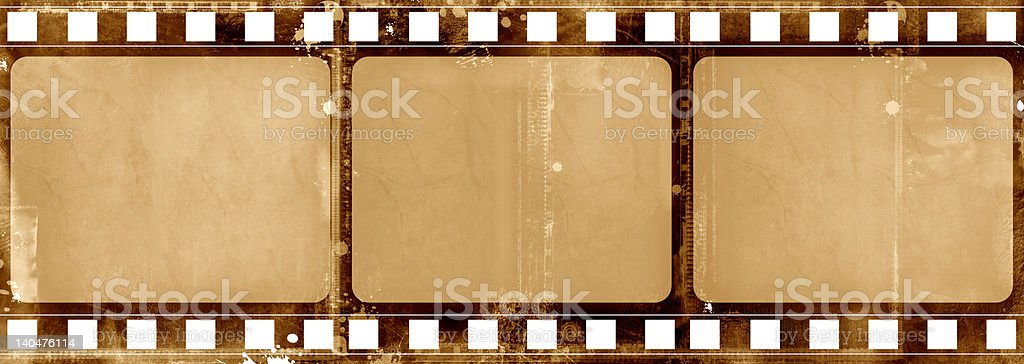 Grunge film frame stock photo