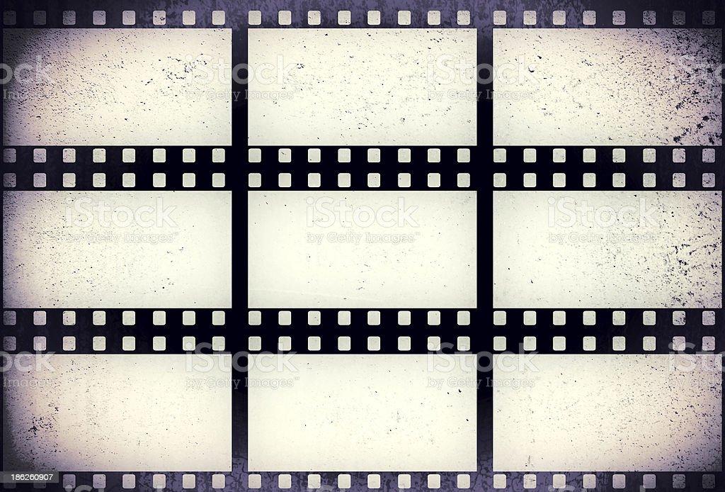 Grunge filmstrip stock photo