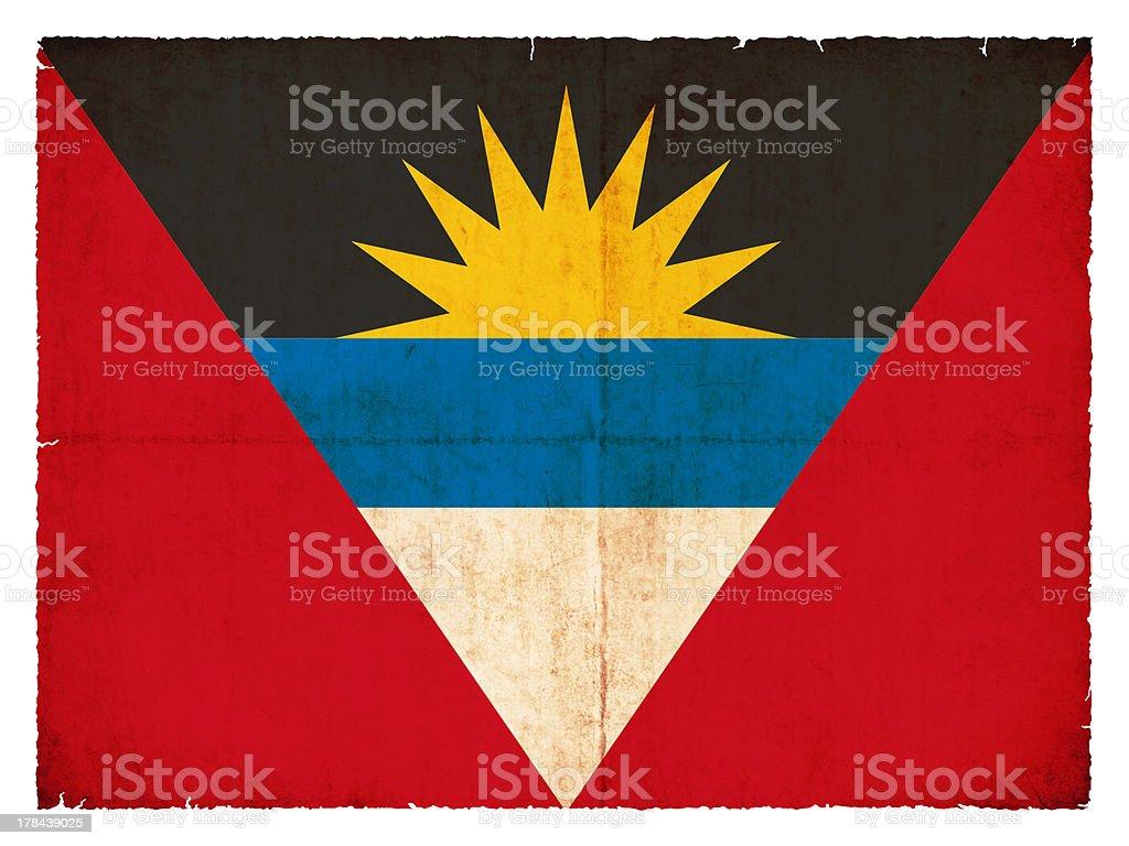 Grunge flag of Antigua and Barbuda stock photo