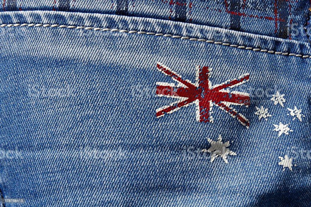Grunge flag of Australia royalty-free stock photo