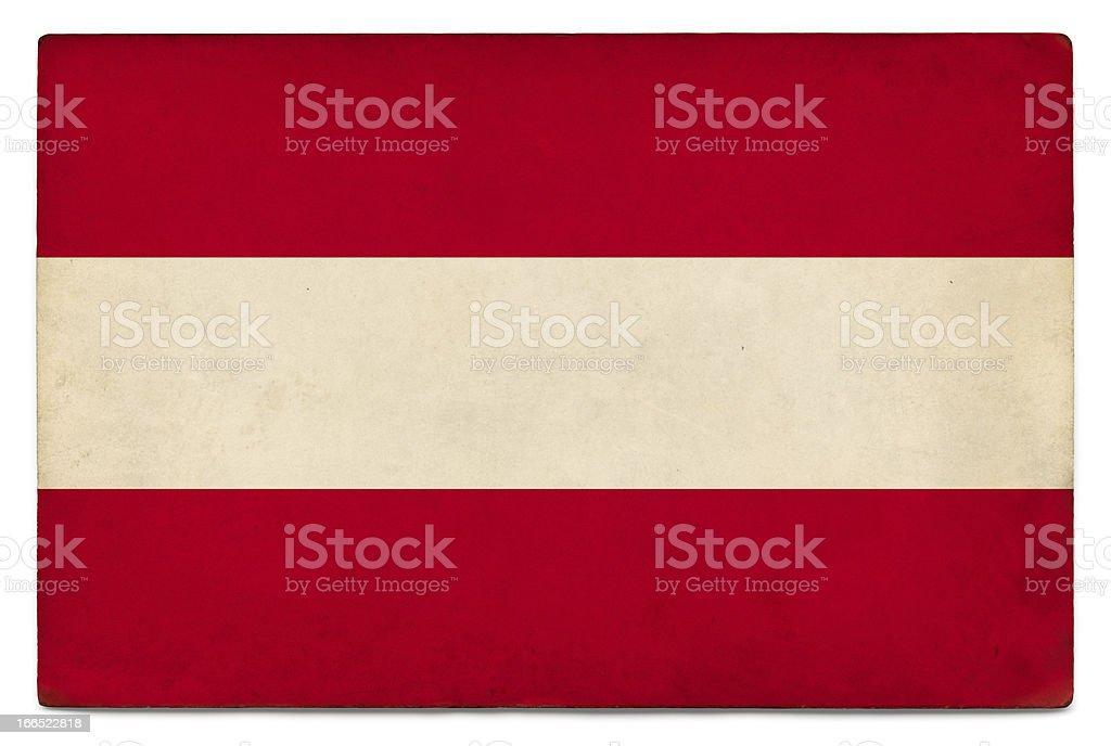 Grunge flag of Austria on white royalty-free stock photo