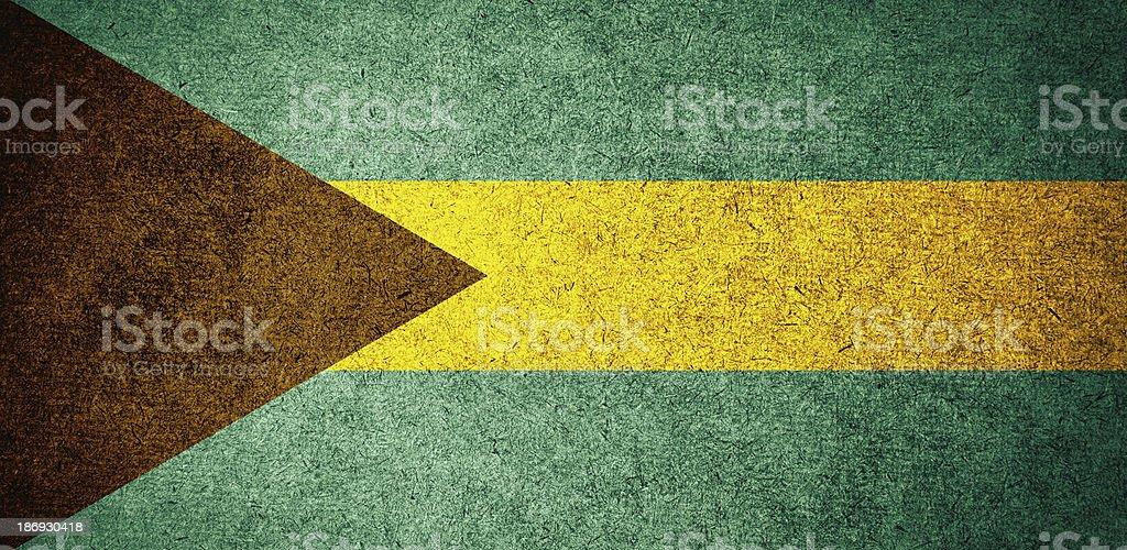 Grunge Flag of bahamas stock photo
