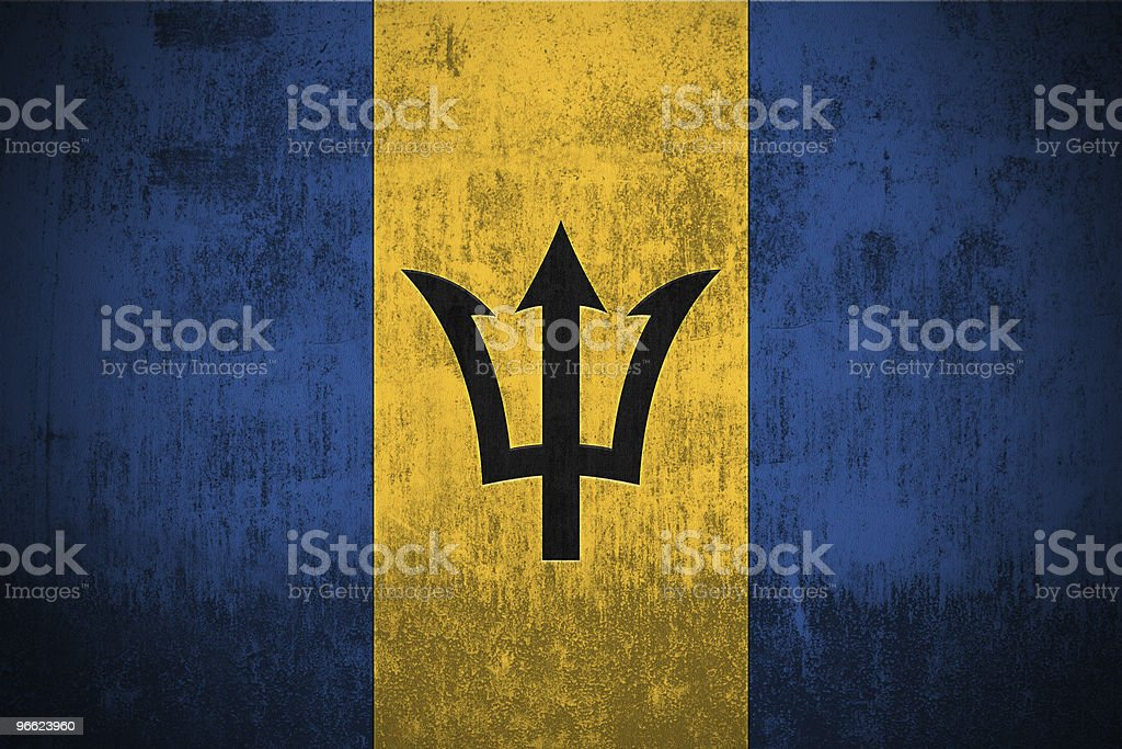 Grunge Flag Of Barbados royalty-free stock vector art