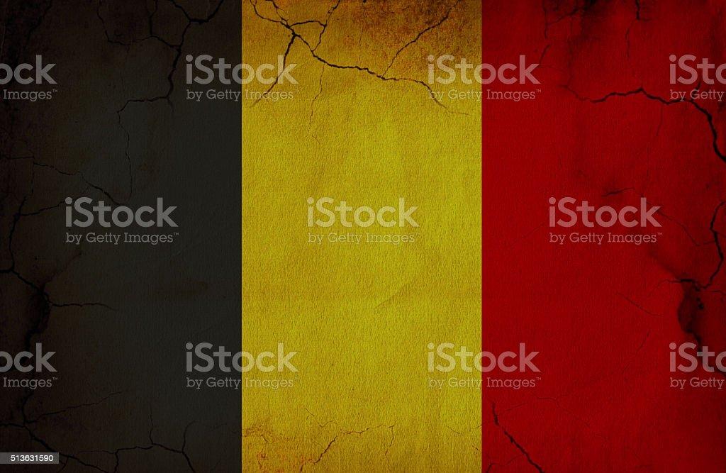 Grunge Flag Of Belgium stock photo