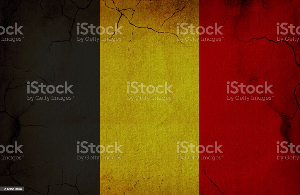 Grunge Flag Of Belgium stock photo