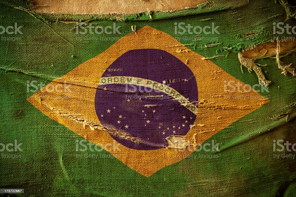 Grunge Flag of Brazil stock photo