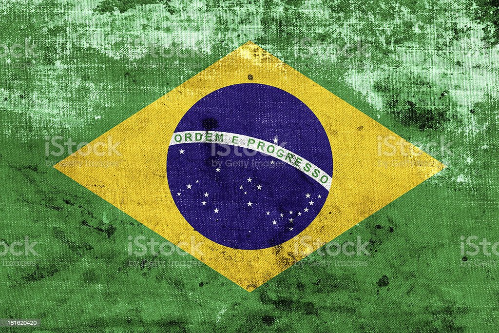 Grunge Flag of Brazil royalty-free stock photo