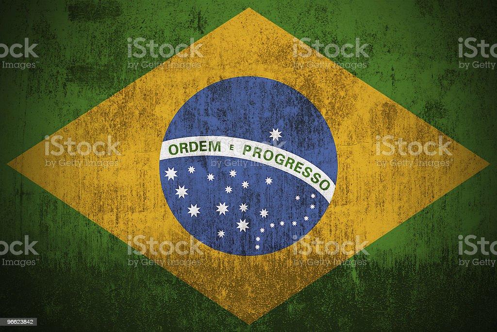 Grunge Flag Of Brazil stock photo