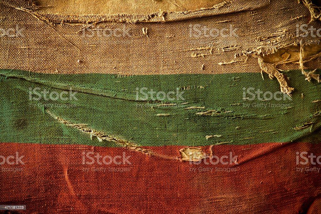 Grunge Flag of Bulgaria stock photo