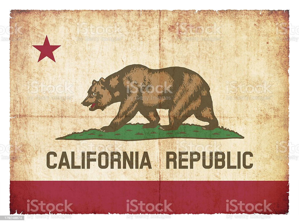 Grunge flag of California (USA) royalty-free stock photo