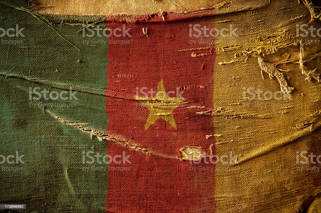 Grunge Flag of Cameroon royalty-free stock photo